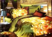 Роскошный сатин с 3D эффектом. КПБ  2-спальный евро стандарт.
