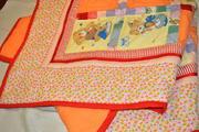 Детское лоскутное одеяло в стиле печворк