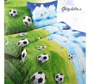 Постельное бельё детское Футбол 1, 5 спальное Бязь 46812